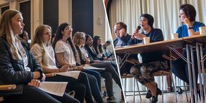 Politikerutfrågning på Brinellskolan inför Europaparlamentsvalet.