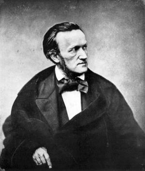 Den tyske kompositören Richard Wagner var Adolf Hitlers store konstnärlige och politiske förebild. Fotot är taget av Pierre Petit i Paris 1861.