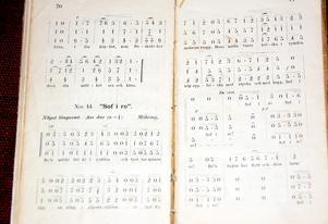 Så här kunde ackompanjemang noteras i basal form, möjligen för det enkla stränginstrumentet psalmodikon.