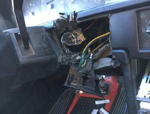 Kvinnan hävdade att någon annan stulit bilen. Hon döms därför för olovligt brukande. Bild: Polisen.