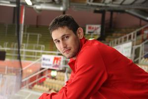 Kevin Goumas är tillbaka i Mora för att spela till sig en plats i laget. Foto: Björn Daniels