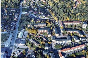 Flygfoto över Mariekäll. Foto: Södertälje kommun