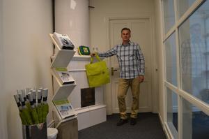 Norconsult huserar i en gammal byggnad med kakelugnar. Pelle Eriksson är chef över tio personer och siktar på att mer än fördubbla personalstyrkan.