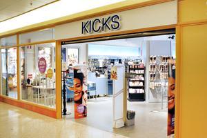 Kicks har planer på att stänga butiken  i Gallerian i Sandviken.