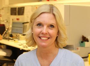 Linda Lindh gläds åt att snabbt kunna leverera svar  på prover på misstänkt vinterkräksjuka.