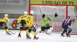 Joel Wigren satte snyggt 2–0 på pass från Daniel Mossberg efter knappa halvtimmen.