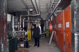 Ventilationsanläggningen i källaren. 29 november 2007.