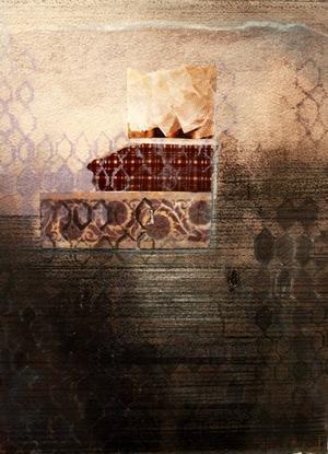 Anna Brand gör abstrakta bilder i olika tekniker.