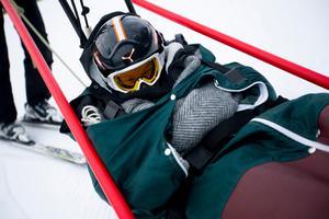 Sanna Wiklund fick chansen att testa skicarten först.