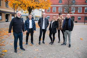 George Mourad, Resul Yesil, Kalle Hellstrand,  Sofie Andersson, Hanna Lindmark och Niklas Hellstrand arrangerar tillsammans Julfesten i Salaparken den 6 och 7 december.