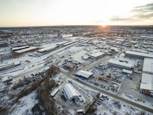 Om 20 år kan Näringen ha fått en helt ny skepnad. Gävle Strand och Brynäs till vänster i bakgrunden och Öster till höger.