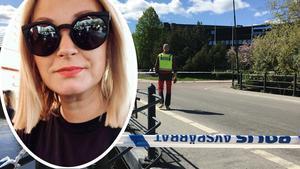 Maria Lindström är en av de Falubor som har blivit strandsatt innanför avspärrningarna i centrala Falun, efter att ett misstänkt föremål hittats vid polisstationen.