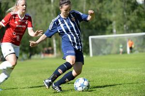 Lina Candell rann igenom gång på gång och var Kovlands offensiva hot i cupmatchen mot IFK Östersund.