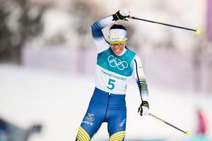Kallas kunde kosta på sig en segergest när hon korsade mållinjen. Foto: Joel Marklund (Bildbyrån).
