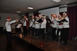 PRO-kören under ledning av Kjell Andersson sjöng julmelodier. Foto: Johnny Jansson