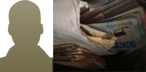 Den misstänkte 39-åringen har berättat att pengarna han förvarade i en garderob var spelvinster. Foto: Polisens förundersökningsprotokoll/arkiv