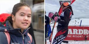 Katherine Karlsson var 4-5 år när hon stod på skidor första gången. Hon lärde sig åka i Teknikbacken i Arboga och är nu med i Thailändska skidlaget.