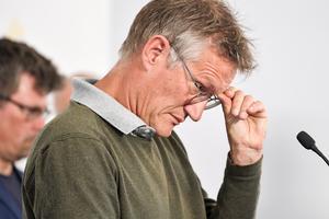Anders Tegnell, statsepidemiolog, Folkhälsomyndigheten, under en av de dagliga myndighetsgemensamma pressträffarna om om covid-19. Foto: Anders Wiklund / TT /