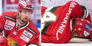 Viktor Amnér spelar fjärde mest i laget och har +2 efter 13 spelade matcher. Bara två andra i laget har + i den kolumnen. Foto: Bildbyrån.