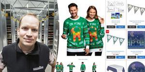 Joel Svensson ser att jultröjorna säljer bra sedan ett par år. I framtiden tror han att högtider och traditioner från andra kulturer kan ge företaget chansen att växa ännu mer. Bild: Erik Wikström och partykungen.se.