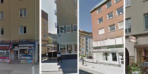 Sju namngivna affärsrörelser finns just nu utlagda på Blocket. Bilder: Google street view