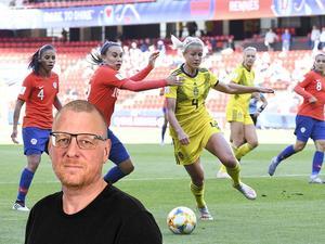 Hanna Glas var enligt Sportens Sören Häggkvist en av Sveriges bästa i VM-premiären. Sverige fick slita hårt länge men till slut kom målen mot Chile.                                                                                Bild: TT