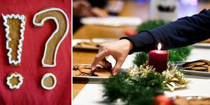 Kryddighet, krispighet och tuggmotstånd är några av parametrarna som testarna hade att ta hänsyn till när de provsmakade julens pepparkakor. Foto: TT/montage