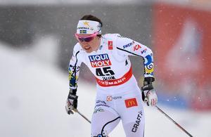 Sveriges Emma Wikén under skid-VM i Falun 2015. Bild: Anders Wiklund/TT Nyhetsbyrån.