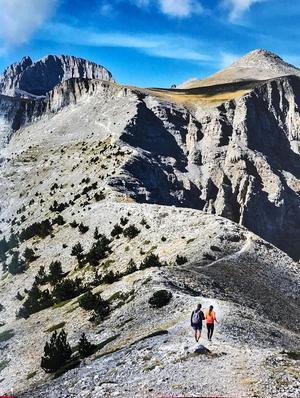 Vandring längs bergsryggen Lemos i Grekland. Foto: Claes Grundsten