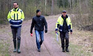 Fredrik Wemming Falu Energi & Vatten, Anders Goop Borlänge Energi och konsult Per-Arne Ryttar.