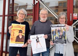 Kulturhusets Gunilla Johansson, Pelle Nööjd och Anna-Karin Rostedt ser fram emot ett spännande jubileumsår.