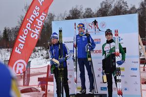 Prispallen distansen H15 med Elias Danielsson som vinnare. FOTO: TORBJÖRN GEORGSSON