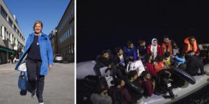 EU måste stärka det gemensamma yttre gränsskyddet. Men låt oss göra det med målet att ingen ska behöva dö på Medelhavet, skriver Karin Karlsbro. På bilden: Flyktingar vid den grekiska kusten.