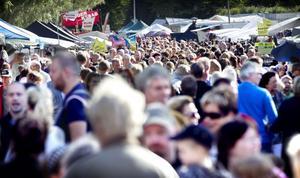 Det var stor kommers och många besökare under lördagens marknad.