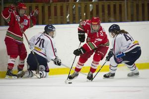 Riksseriens poängligaledare Emma Nordin gjorde mål på nytt mot Linköping – men målet var förgäves.