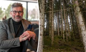 Olov Söderström, vd för Norrskog, vill slå hål på myten om att den svenska skogen håller på att utarmas. Bild: Norrskog / Vidar Ruud/TT