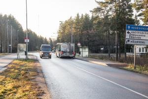 Skogmursvägen där olyckan inträffade.