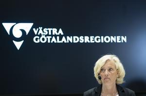 Region Västra Götaland har sett en ökning i övertidstimmar i april i år jämfört med tidigare år. En ökning som kan bli dyr. På bild: Ann Söderström, Hälso- och sjukvårdsdirektör i regionen. Arkivbild.