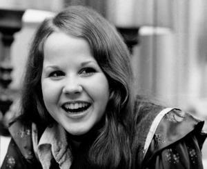 Den 17-åriga Linda Blair som igenom stort som skådespelare i rollen som den besatta flickan Reagan MacNeil i filmen