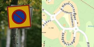 Två mindre nya parkeringar och möjlighet att parkera längs med gatan på vissa sträckor. Det föreslår samhällsbyggnadskontoret som lösningar på p-platskrisen i Björkmossen. Bild: TT, karta: Södertälje kommun