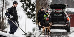 Polis söker spår efter dödsskjutningen den 11 januari.