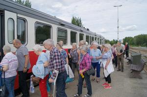 Från Storuman till Vilhelmina bytte vi färdsätt, från buss till rälsbuss på inlandsbanan. Foto Sören Söderqvist