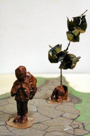 Skulpturen enligt en skiss.Foto: Mats Lind.