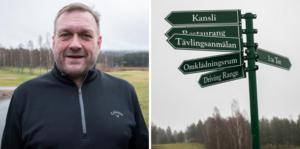Klubbchefen Tommy Staf får ta fram hammaren och spika upp diplomet som visar att Hagge GK är Dalarnas bästa golfbana.