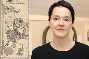 Elisa Rossholm har producerat utställningen Fin-de-siècle-fantasi, som visas på Engströmmuseet.