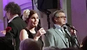 Cecilia och Christer Nerfont såg till att minneskonserten i Sandvikens kyrka blev just riktigt minnesvärd. Foto: Lars Westin