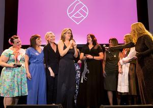 I september 2018 tog tjejerna i Geek Girl Mini Sundsvall emot priset årets IT-profil på Sundsvalls Business Awards. Foto: Arkiv/Maria Eilertsen