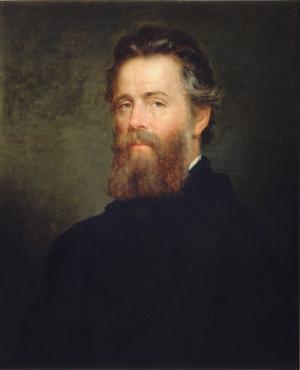 Herman Melville, målning av  Joseph Oriel Eaton från 1870.