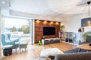 Lägenheten på Stadsdel Norr är på 117 kvadratmeter och uppförd 2017/2018. Foto: Emil Sjölander, Svensk Fastighetsförmedling.