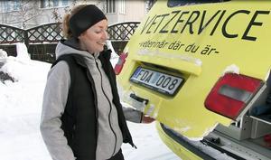 Den knallgula ambulansen syns tydligt ute på vägarna, en något ombyggd ambulans som i stället för folk tar hand om djur.